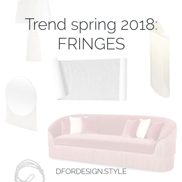 Fringes interior design trend. Pin It.
