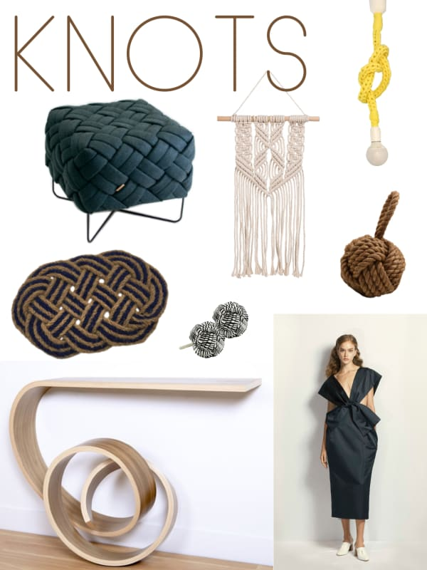 Knots mood board: a selection of furniture and accessories.