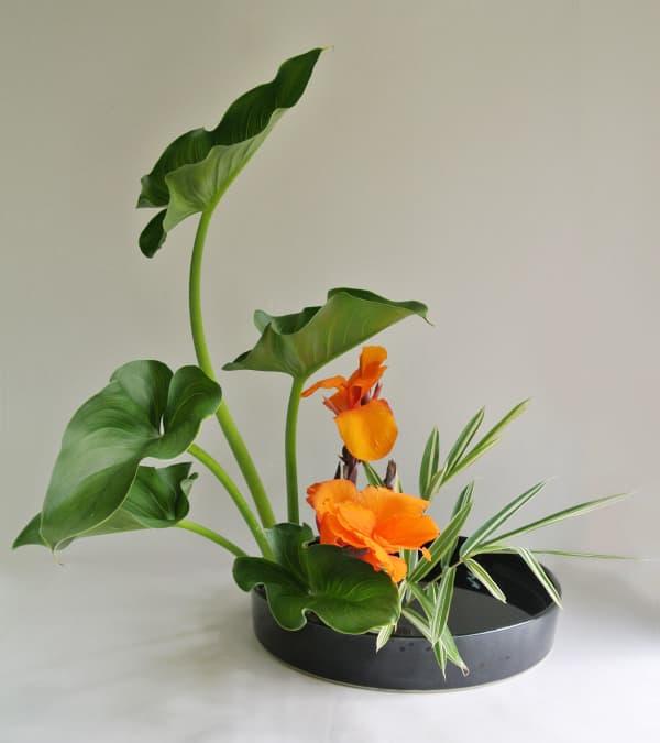 Ikebana arrangement, perfect décor in a minimalist interior.