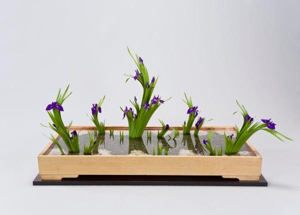 Small Ikebana arrangement, perfect décor in a minimalist interior.