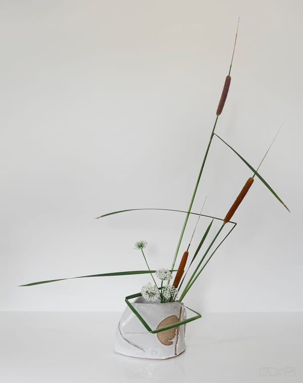 Ikebana arrangement making great use of negative space.