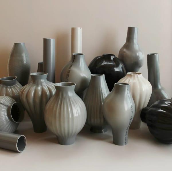 Kodai Iwamoto Design recycled plastic vases.