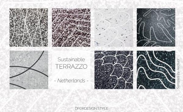 3D printed terrazzo samples.