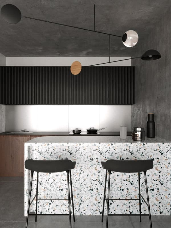 Terrazzo minimal kitchen.