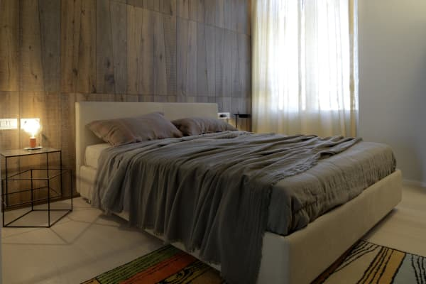 Biophilic interior design in CityLife, bedroom.