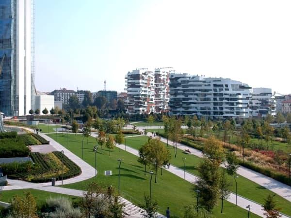 Biophilic park in CityLife.