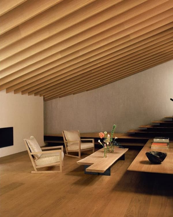 Wood interior with Japanese inspiration.