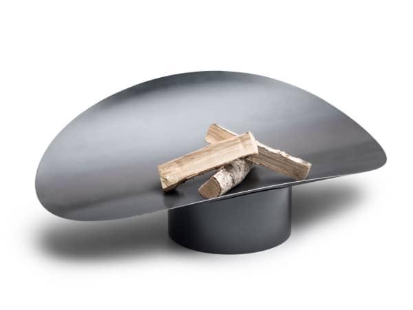 Sculptural fire bowl.