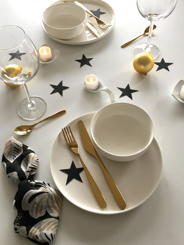 A different close-up view of the place setting.