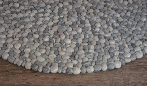 Felt stone rug.