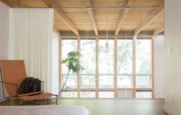 Cozy corner on a bright mezzanine.