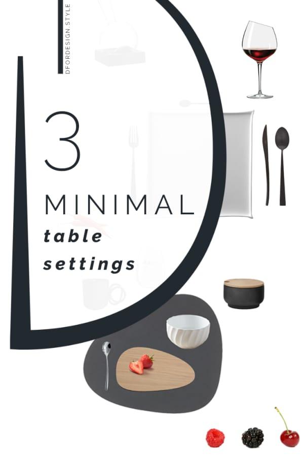 Minimalist table setting. Pin It.