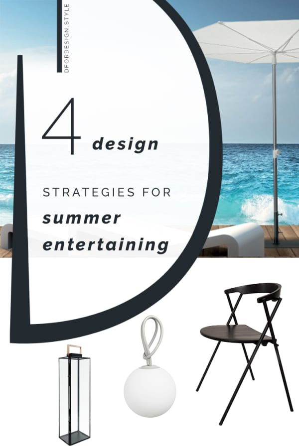 Minimalist summer entertaining. Pin It.