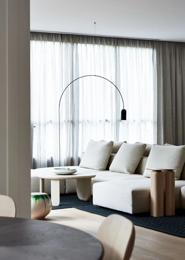 A relaxing minimal living room design, perfect place to enjoy a moment of calm and silence.