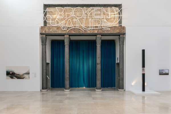 Entrance of the Broken Nature exhibition.