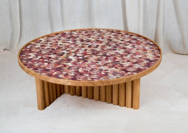 Coffee table with Totomoxtle top.