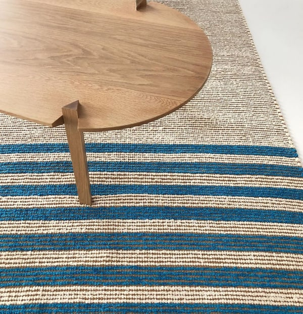 Recycled cotton jersey and cork rug.