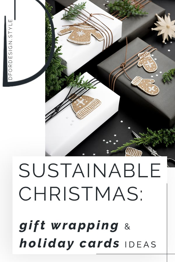 Sustainable Christmas: gift wrapping and holiday cards ideas. Pin it.