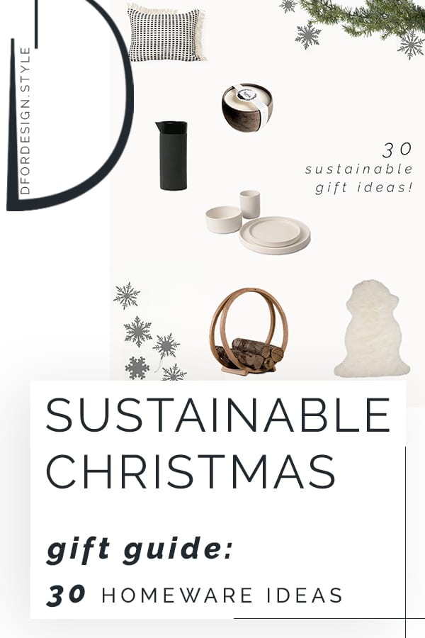 Sustainable Christmas gift guide: 30 homeware ideas. Pin it.