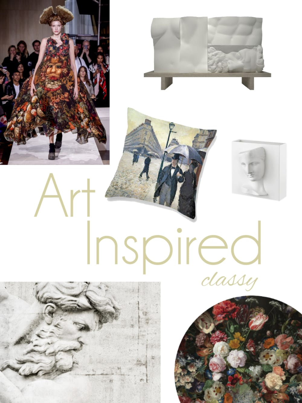 "Art-inspired classy mood board: a selection of furniture and accessories.<span class=""sr-only""> (opened in a new window/tab)</span>"