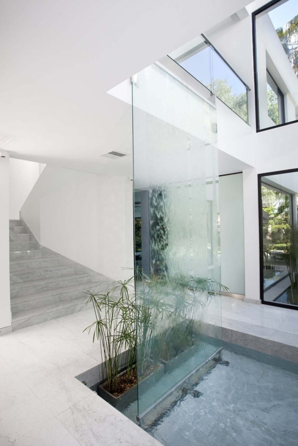 """Water wall used as room divider.<span class=""""sr-only""""> (opened in a new window/tab)</span>"""