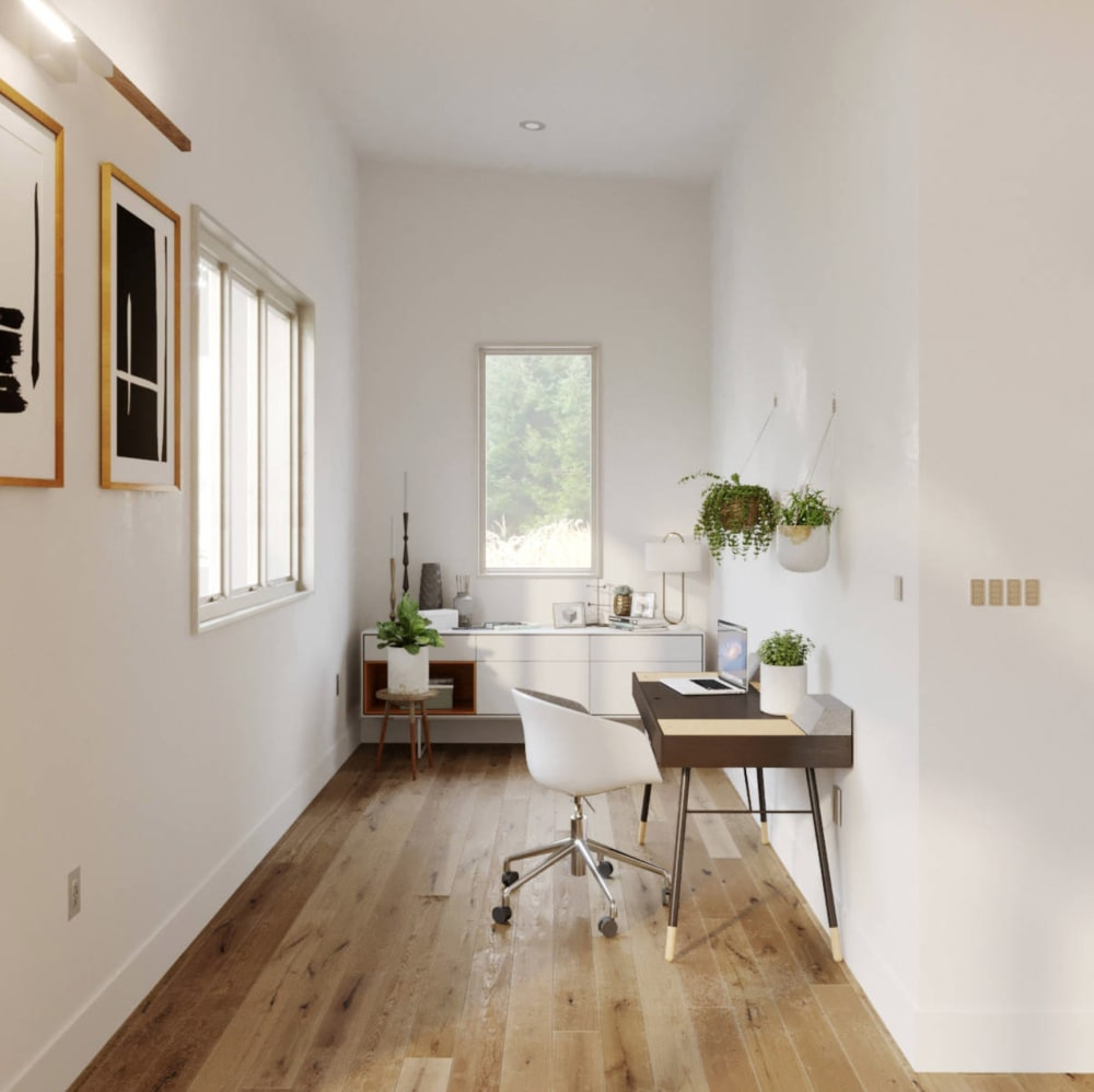"Home office space into a large wall niche.<span class=""sr-only""> (opened in a new window/tab)</span>"