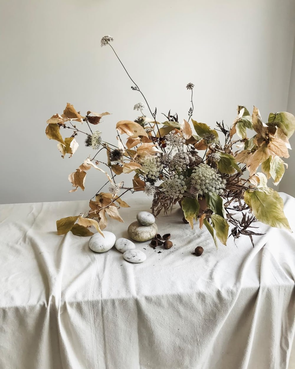 """An arrangement of leaves and little white flowers.<span class=""""sr-only""""> (opened in a new window/tab)</span>"""
