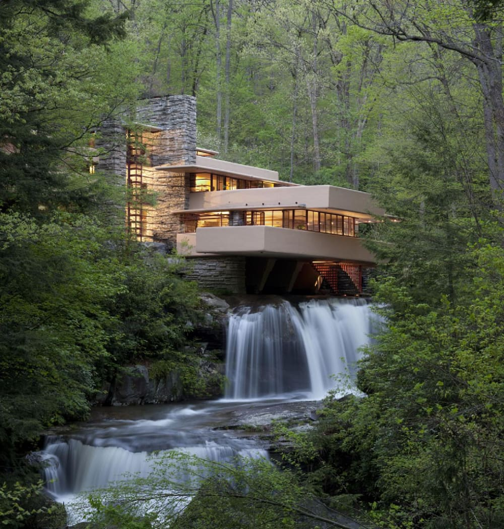 """Fallingwater by Frank Lloyd Wright.<span class=""""sr-only""""> (opened in a new window/tab)</span>"""