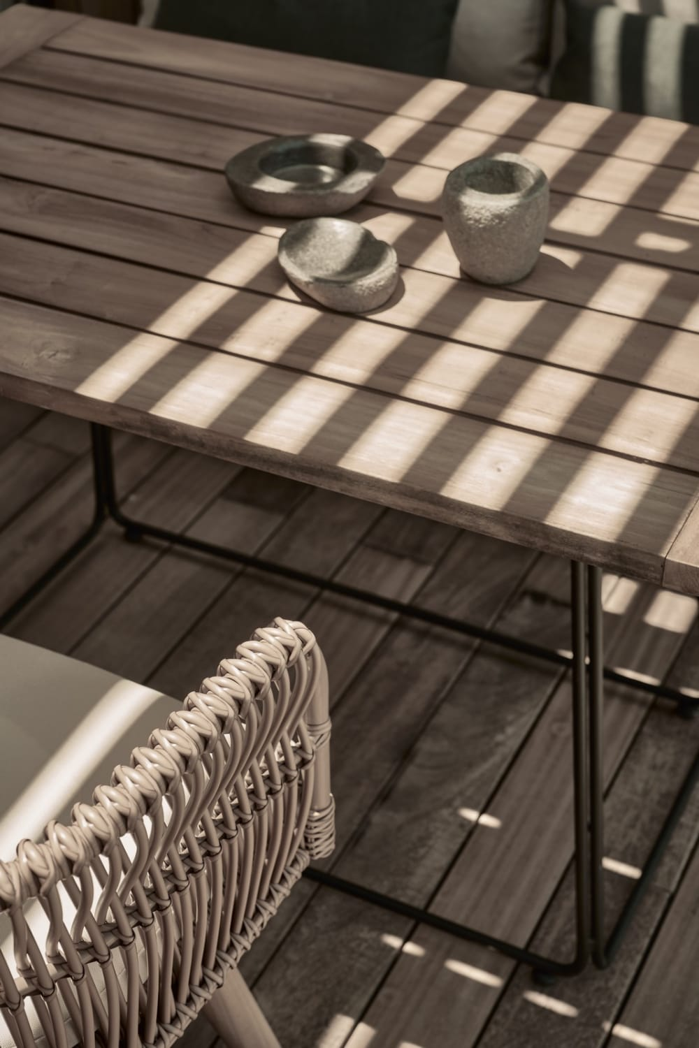"""Sunlight reflection on a patio table.<span class=""""sr-only""""> (opened in a new window/tab)</span>"""
