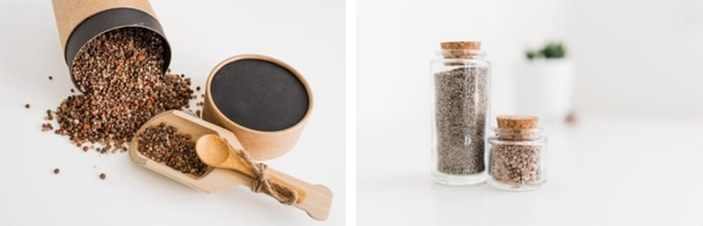 """Fertilizer blends displayed in small glass jars.<span class=""""sr-only""""> (opened in a new window/tab)</span>"""