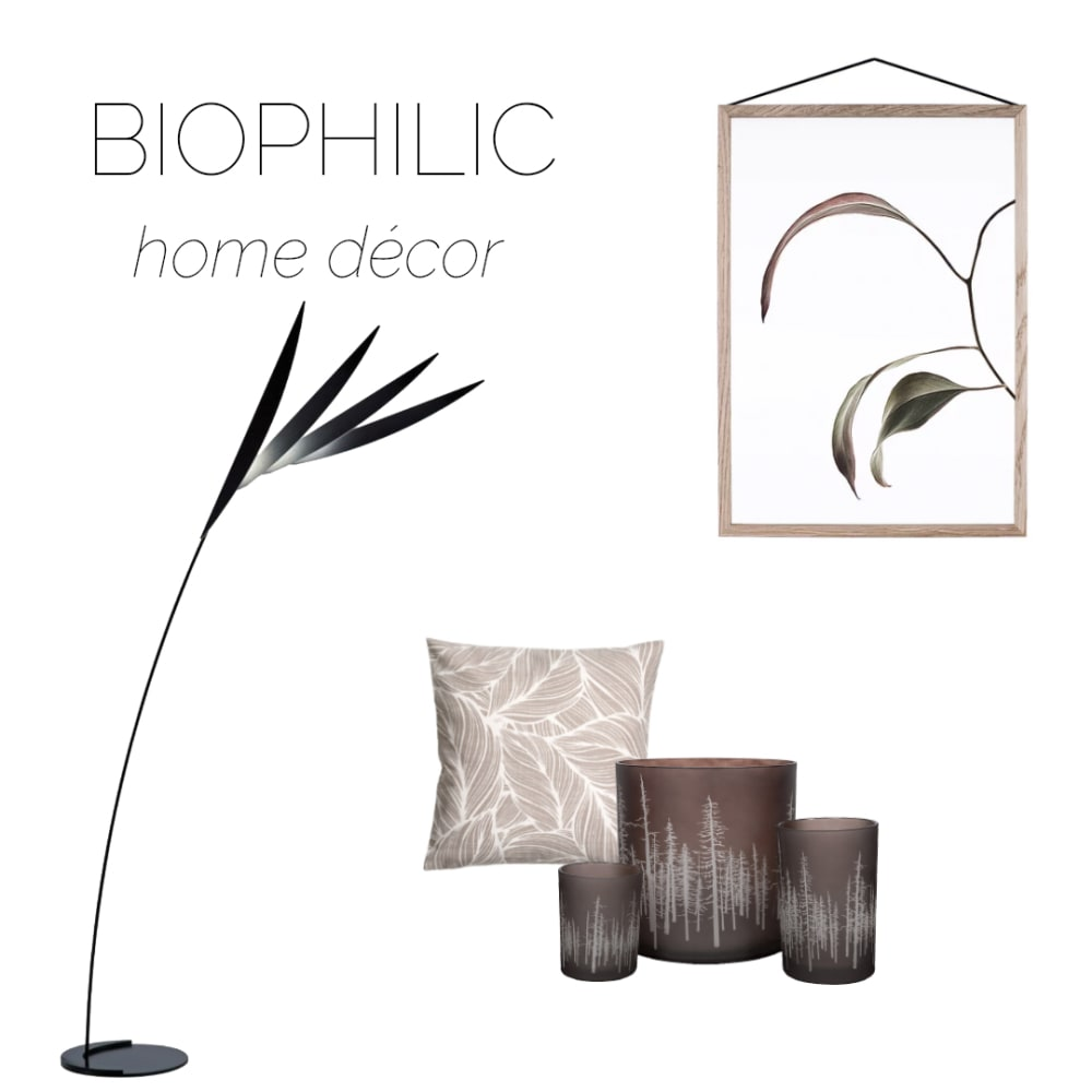 "Selection of home accessories recalling natural shapes and patterns, ideal to create a biophilic design.<span class=""sr-only""> (opened in a new window/tab)</span>"
