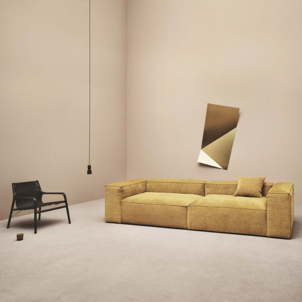 """Mustard yellow sofa.<span class=""""sr-only""""> (opened in a new window/tab)</span>"""