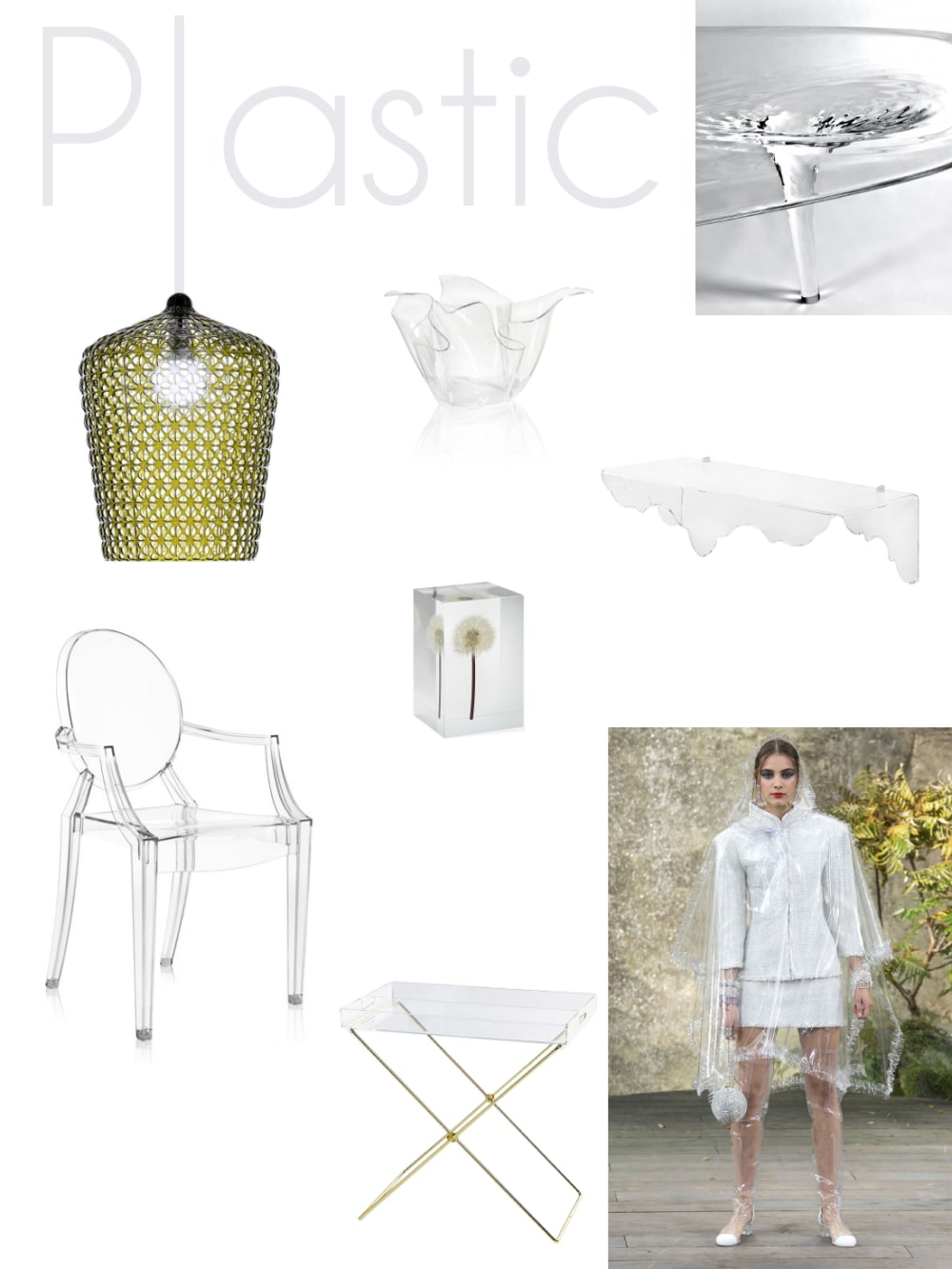 "Plastic mood board: a selection of furniture and accessories.<span class=""sr-only""> (opened in a new window/tab)</span>"