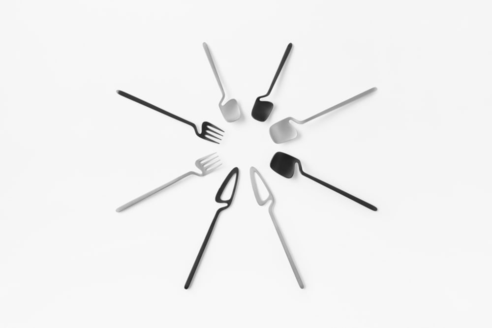 """Sculptural cutlery.<span class=""""sr-only""""> (opened in a new window/tab)</span>"""