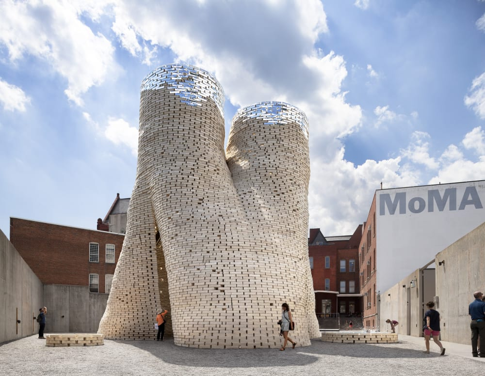 "Building made of mycelium bricks.<span class=""sr-only""> (opened in a new window/tab)</span>"
