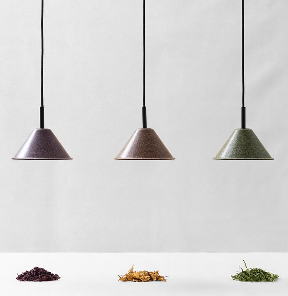 """Pendant lamps made of agricultural waste.<span class=""""sr-only""""> (opened in a new window/tab)</span>"""