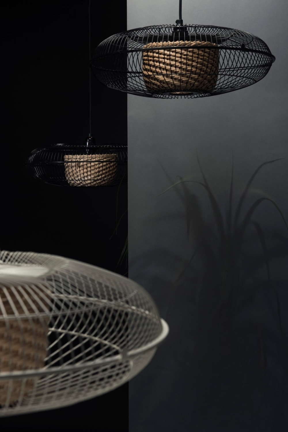 """Pendant lamps made with an old fan.<span class=""""sr-only""""> (opened in a new window/tab)</span>"""
