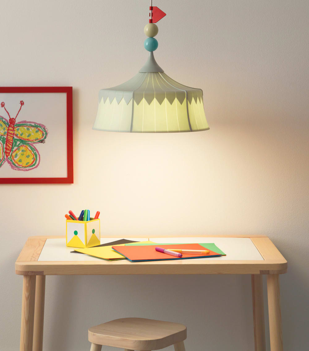 """Pendant lamps for children made with PET bottles.<span class=""""sr-only""""> (opened in a new window/tab)</span>"""