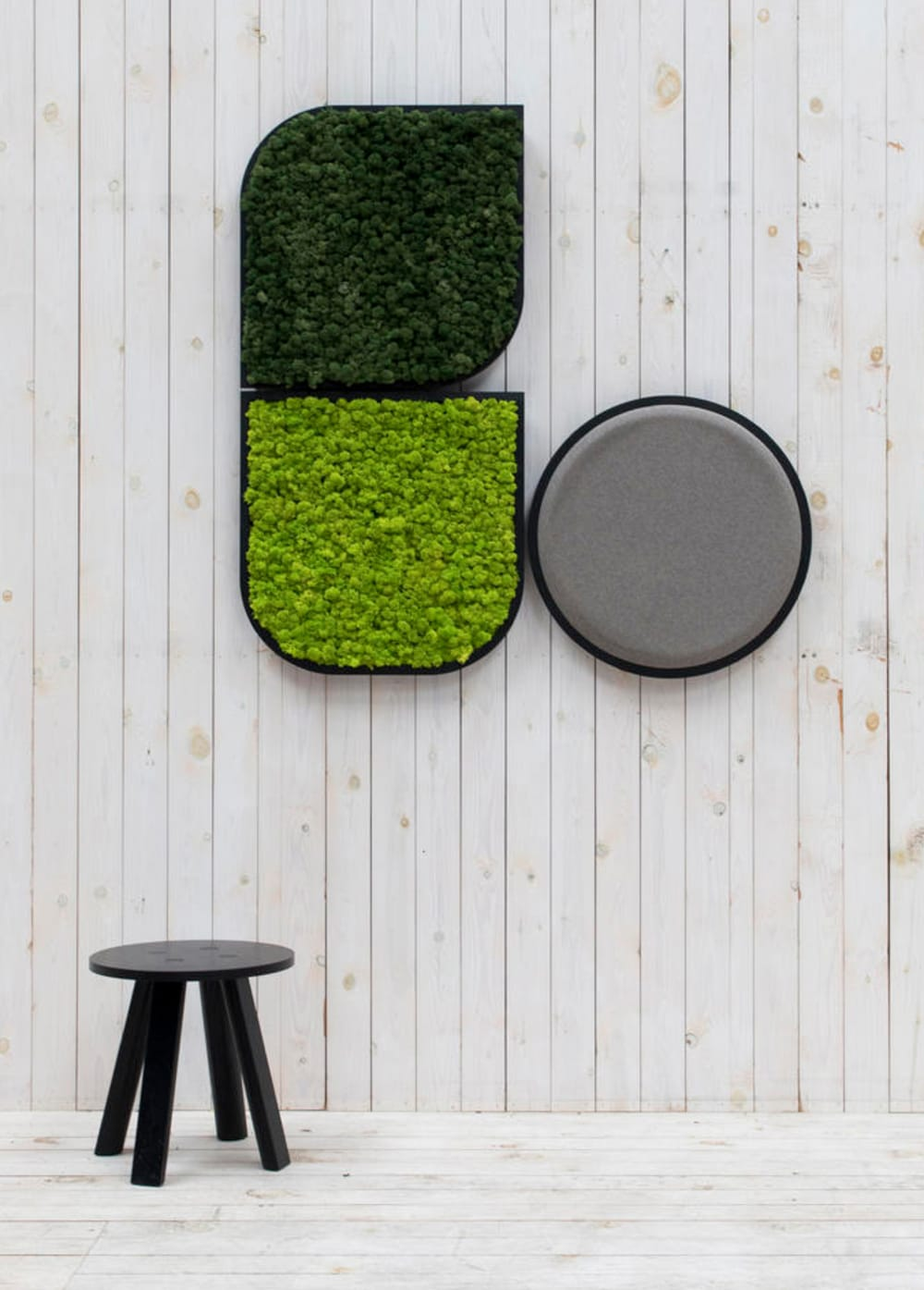 "A composition of acoustic moss panels on the wall.<span class=""sr-only""> (opened in a new window/tab)</span>"