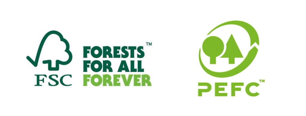 "Logo of the FSC and PEFC labels.<span class=""sr-only""> (opened in a new window/tab)</span>"