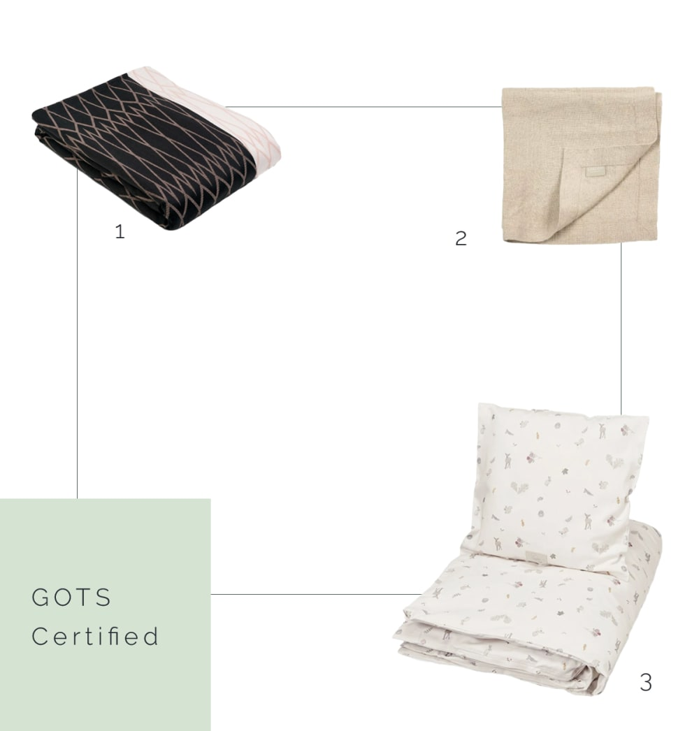 "GOTS certified napkin, blanket and bedding.<span class=""sr-only""> (opened in a new window/tab)</span>"
