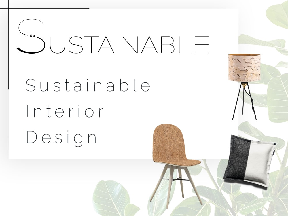 "Graphic of SforSustainable, showing a sustainable chair, a cushion and a table lamp.<span class=""sr-only""> (opened in a new window/tab)</span>"