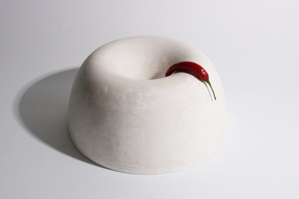 """White bowl with a red pepper hanging onto it.<span class=""""sr-only""""> (opened in a new window/tab)</span>"""