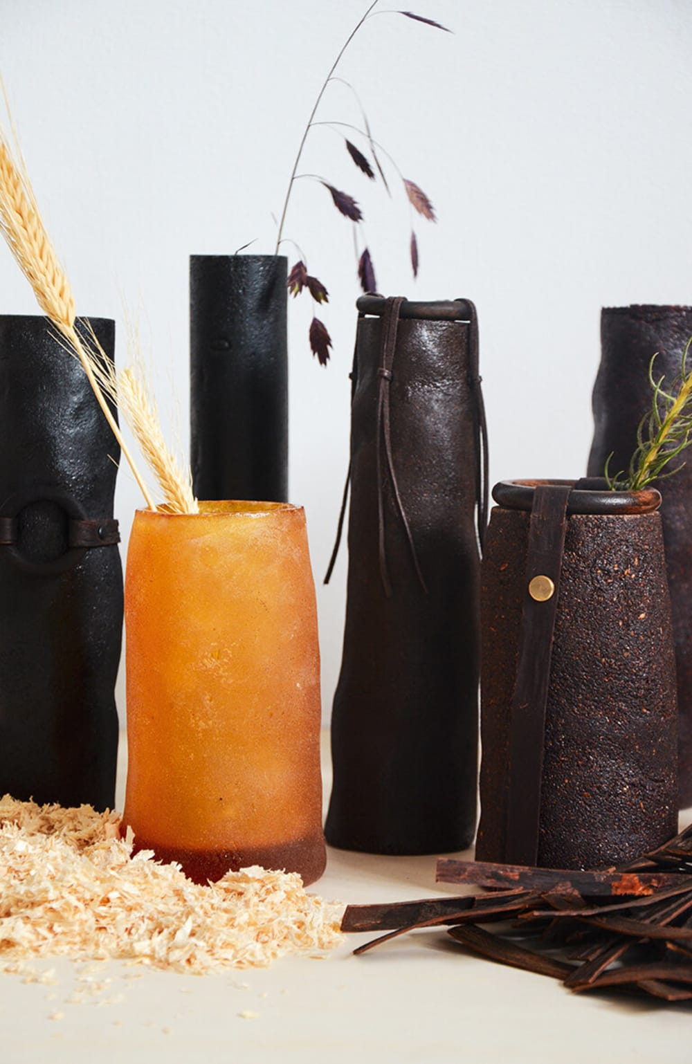 """PineResin vases with dried flowers in them.<span class=""""sr-only""""> (opened in a new window/tab)</span>"""