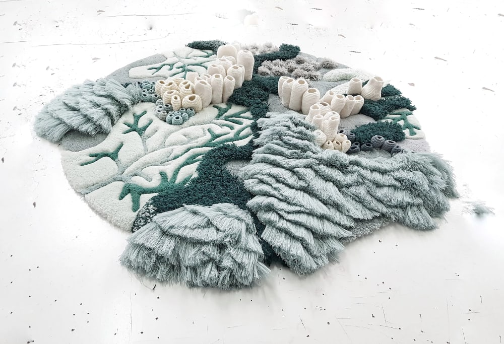 "Textile art reproducing coral reefs - perfect for a biophilic design.<span class=""sr-only""> (opened in a new window/tab)</span>"