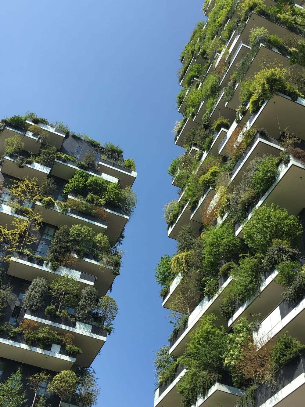 "Bosco Verticale, a couple of green buildings in Milan completely covered in plants.<span class=""sr-only""> (opened in a new window/tab)</span>"