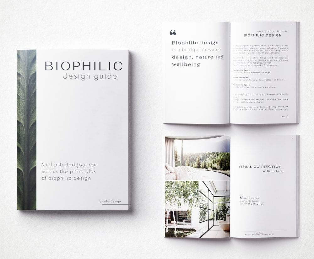 """Biophilic Design Guide; preview of some pages.<span class=""""sr-only""""> (opened in a new window/tab)</span>"""