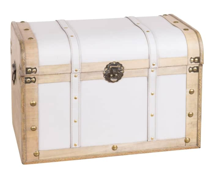 Vintage trunk, a functional and unexpected waste recycling container.