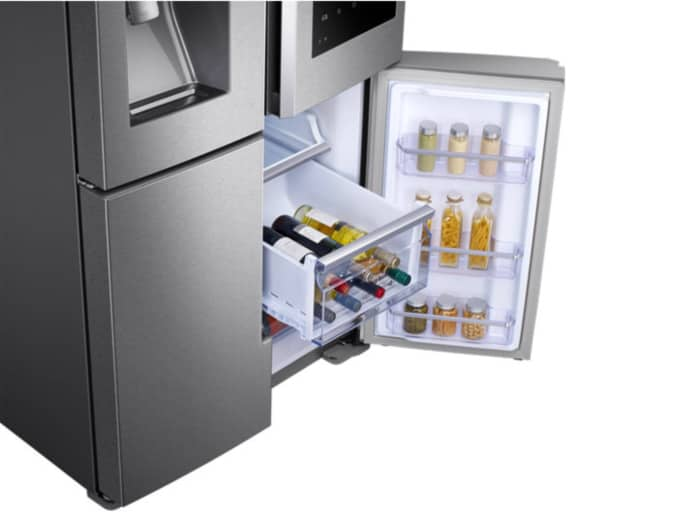 Smart kitchen innovations allow to exchange fridge and freezer areas at need.