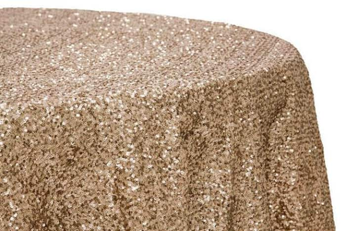Sequin tablecloth, from Etsy.